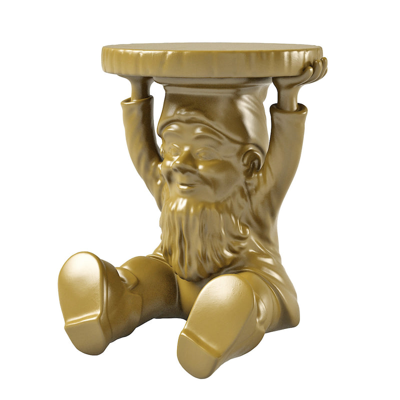 3d model gnome table kartell