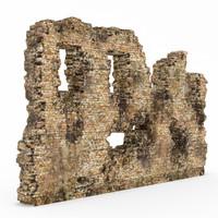3d wall ruins