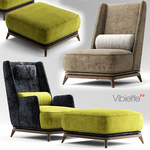 3d model vibieffe opera armchair