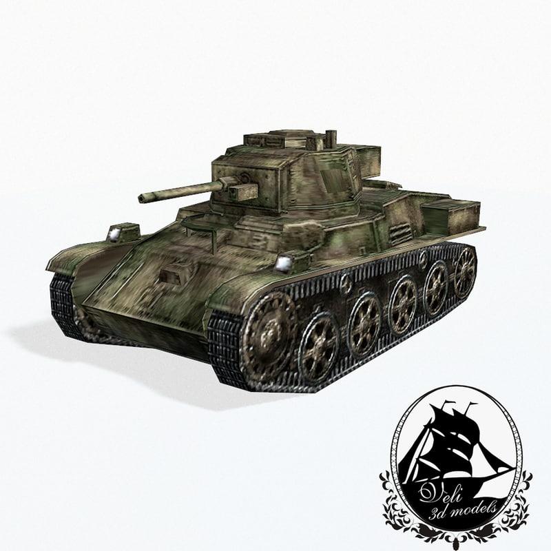 3d 38m toldi light tank model