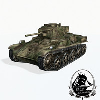 3d 38m toldi light tank model