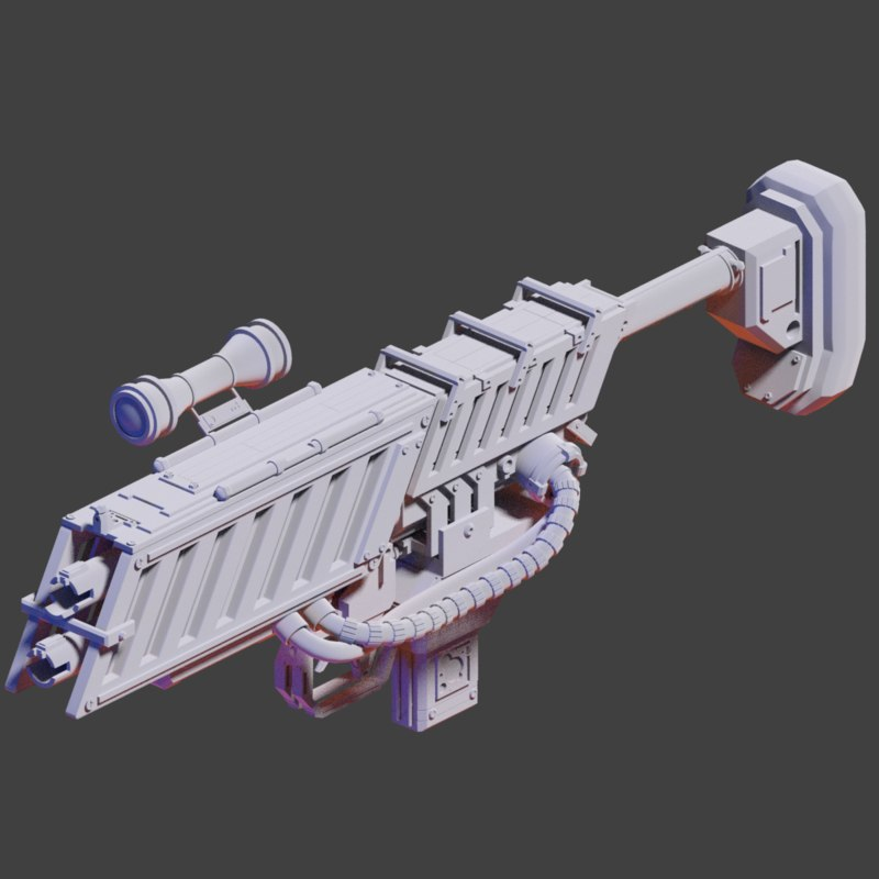 sci-fi weapon hi1 3d model