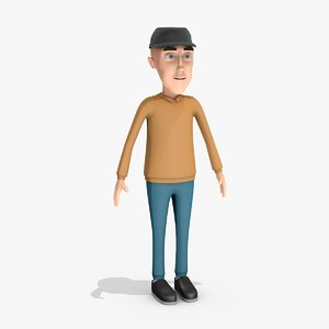 stylized character - 3d 3ds