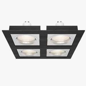 3d downlight spotlight light model