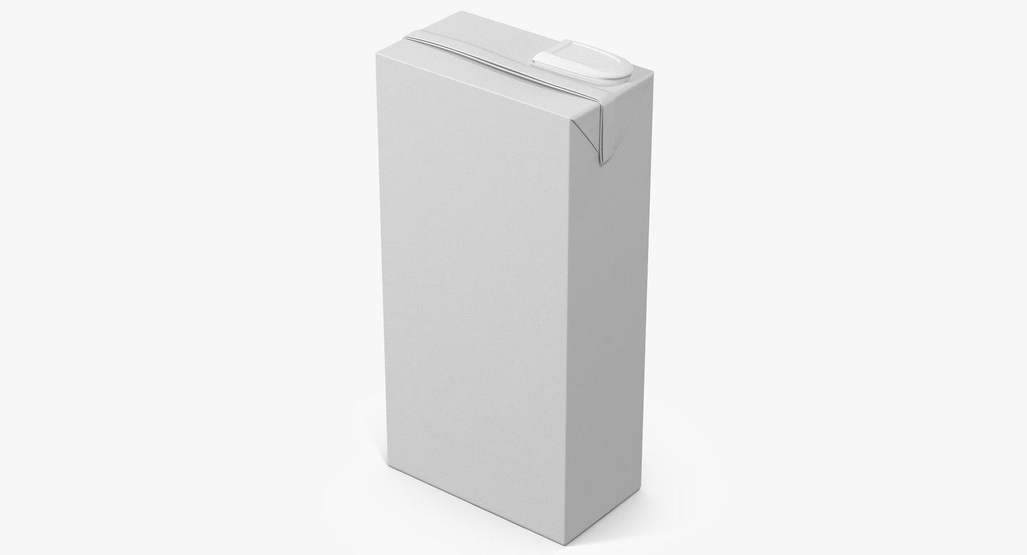 juice packaging 2 3d model