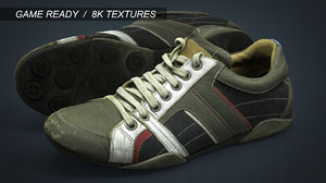 obj realistic sneakers