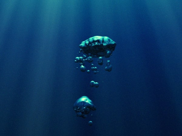 large underwater bubble max