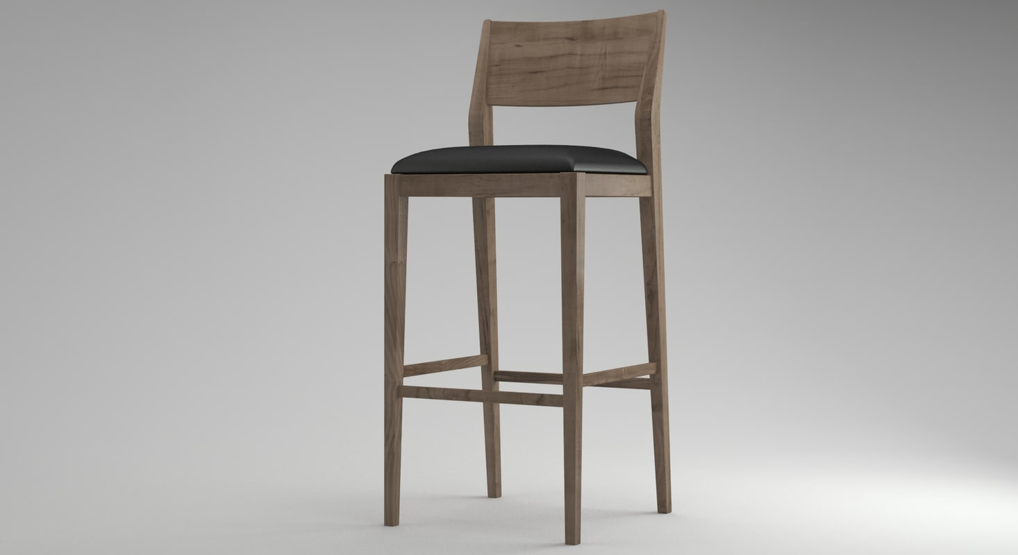 3d model bar stool 02