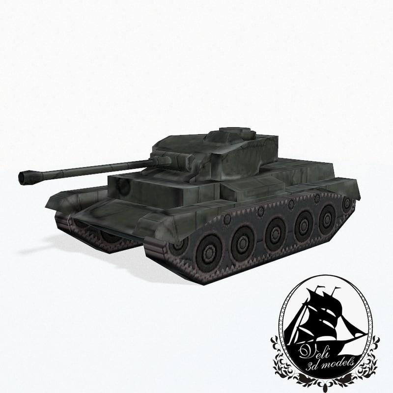 comet tank a34 3d model