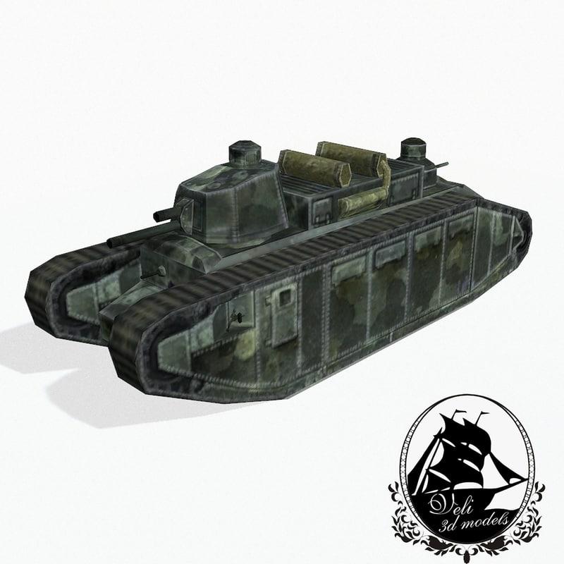 3d char 2c tank