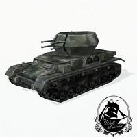 3d model flakpanzer iv wirbelwind panzer tank