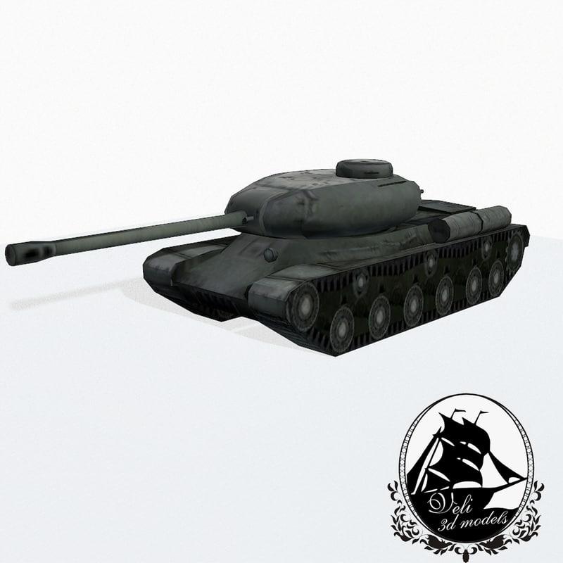 3d is-2 tank model