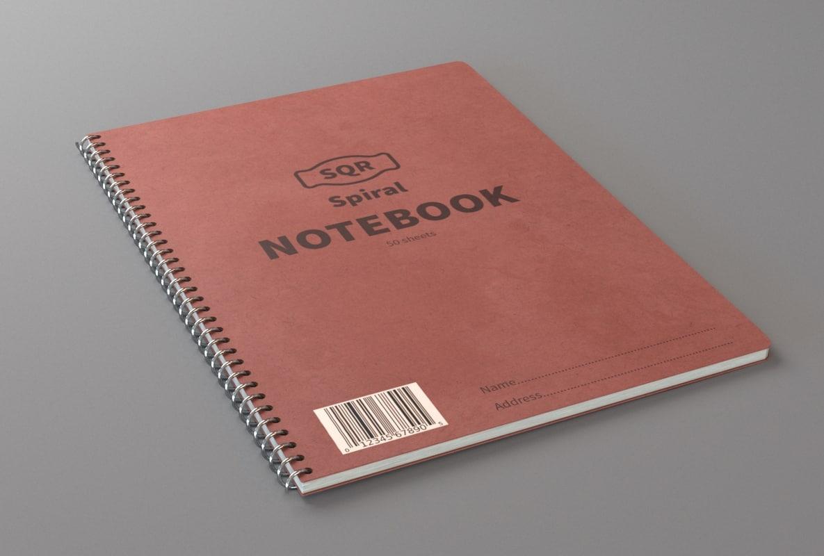 3d spiral notebook