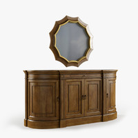 archivist sideboard accent mirror max