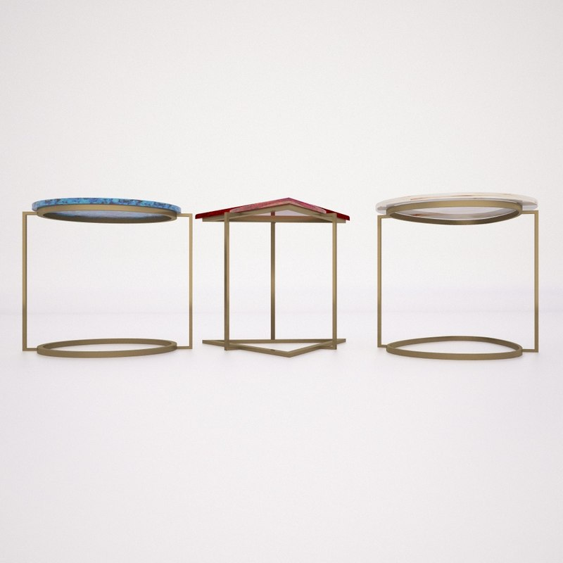 Geometric coffee tables 3d model for Geometric coffee table