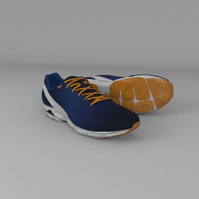 generic sport shoes 3d max
