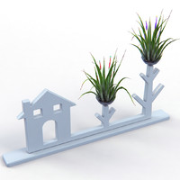 creative air plant decor 3d model