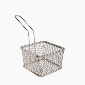 3d obj waffle grid mini fryer