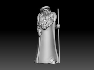 santa claus ded 3d model