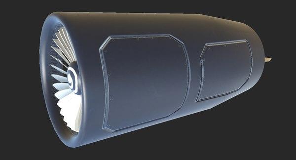 turbofan engine 3d model