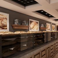 bagel bakery 3d model