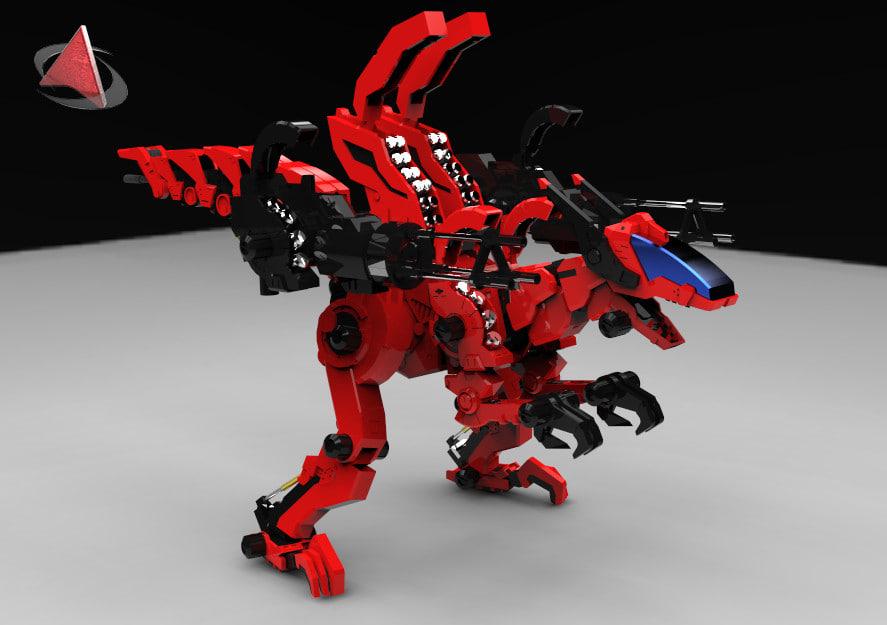 zoid raptor 3d model
