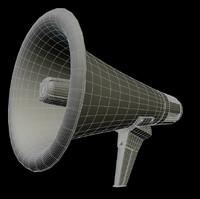 megaphone bullhorn horn 3d model