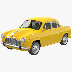 3d model taxi ambassador british
