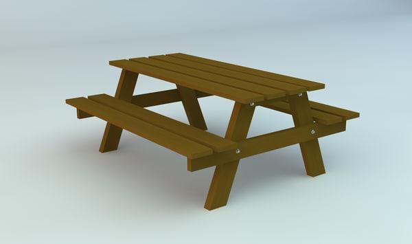 3d picknick table