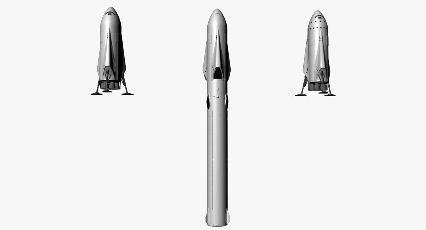 3d rocket mars model