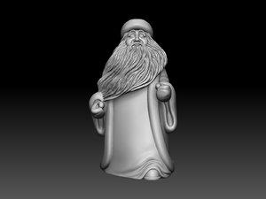 3d santa claus ded model