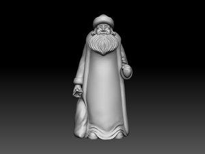 3d model santa claus ded