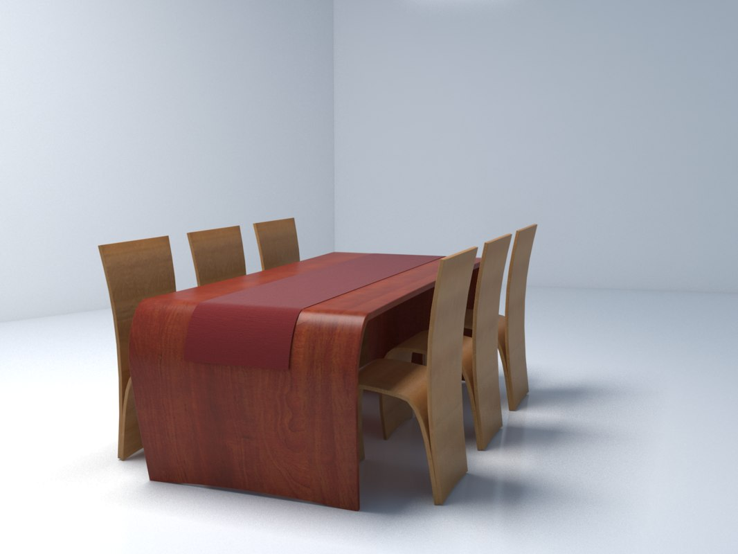obj diner table chairs