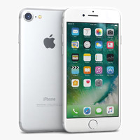 apple iphone 7 silver 3d 3ds