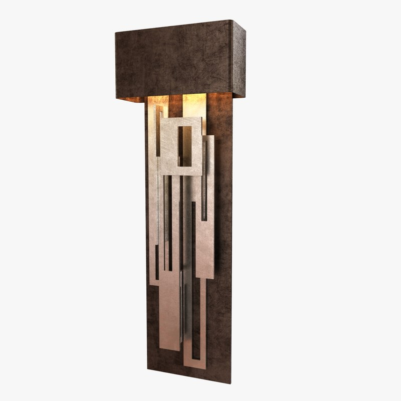 3d sconce collage led lamping model