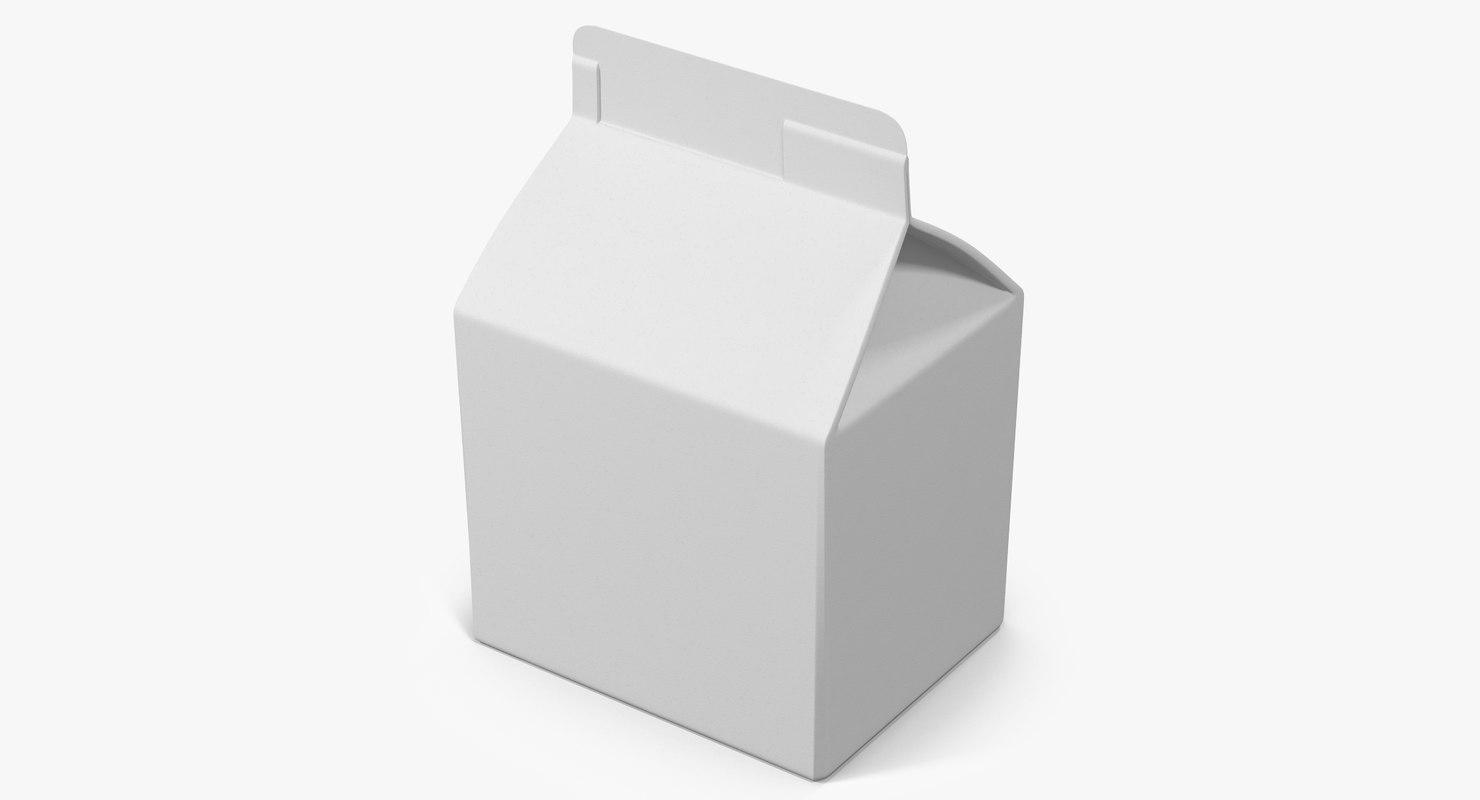3d milk packaging 1 model