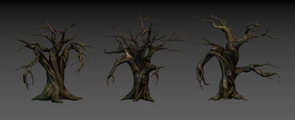 3d tree monster model