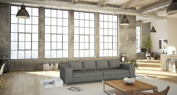 Salon de style loft v3