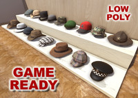 3d hats caps games