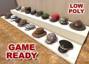 3d hats caps games