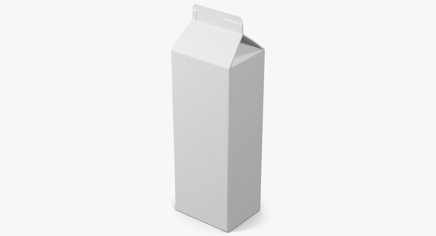 milk packaging 3 3d model