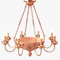chandelier marble glass 3d model