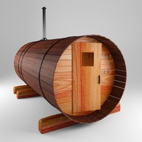 sauna 3d max