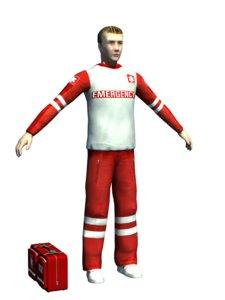 3d emergency man model