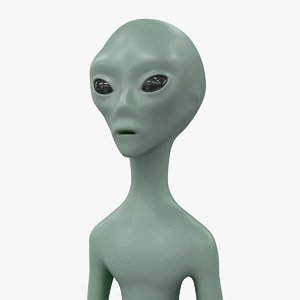 3d model alien character