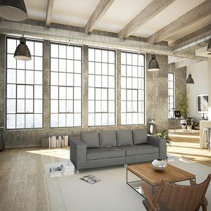 3ds new york style loft