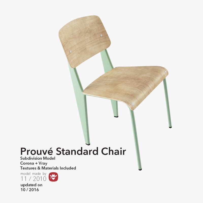 3d model prouve standard chair design