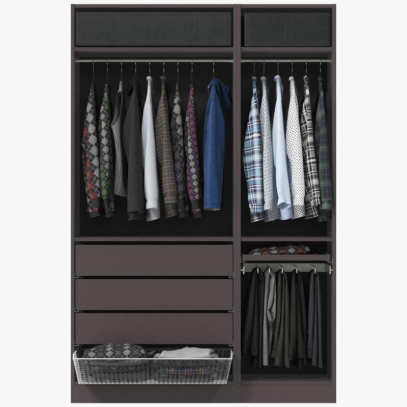 wardrobe clothes 01 3d model