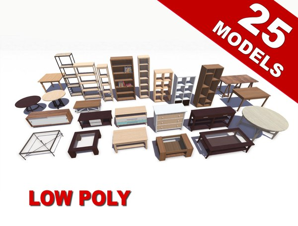 furniture tables fbx