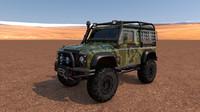 land rover defender off-road c4d